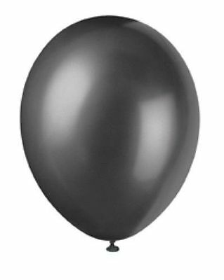 20/50/100X Thick Latex Black Pearlised Birthday Wedding Party Decor Balloon 10""