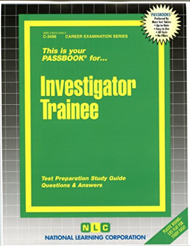 National Learning Corporation-Investigator Trainee BOOK NEW