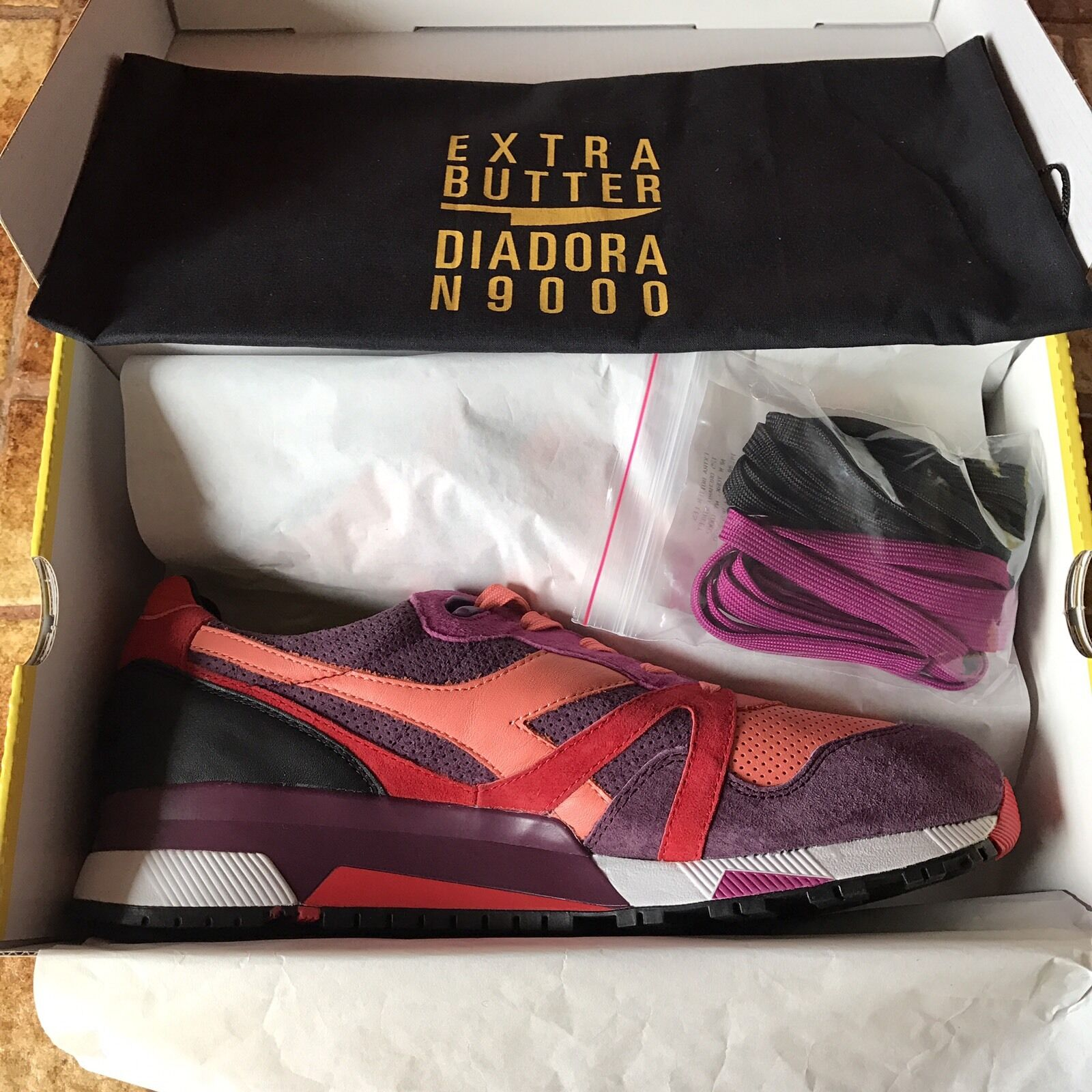 Diadora N9000 x Extra Butter  yellow  - Size 12 Highly Addictive - Castellers