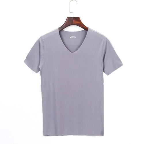 Stretch High Tank Top T-shirt Men/'s Summer Basic Short Sleeve Scoop Neck NEW Tee