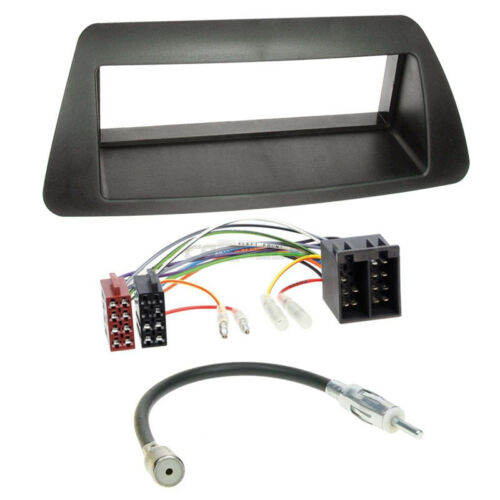 Autoradio Einbauset 1-DIN Fiat Marea 96-02 Kabel Einbaurahmen schwarz