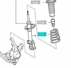 TOYOTA-48131-52A60-Front-Coil-Spring-Vitz-RH-or-LH-2005-2010-Genuine-Car-Parts