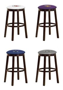 Groovy Details About Bar Stool Nfl Sport Team Logo Decal 24 Espresso Wood Metal Game Room Man Cave Gmtry Best Dining Table And Chair Ideas Images Gmtryco