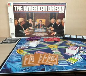 Vintage-1979-034-The-American-Dream-034-Board-Game-4922-Milton-Bradley-Complete
