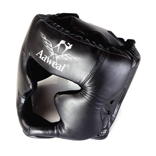 Kids Head Guard Gear Adults Boxing Kick MMA Martial Arts Face Protective Helmet