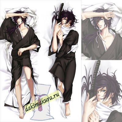 70cm x 40cm Hakuoki Dakimakura Hajime Saito Anime Hugging Pillow Case Cushion