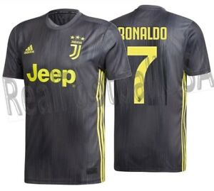 new product 6669e 37771 Details about ADIDAS CRISTIANO RONALDO JUVENTUS THIRD JERSEY 2018/19.