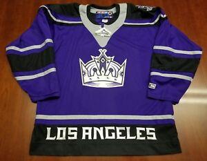 hot sale online d5ed5 5325b Details about Los Angeles Kings Vintage CCM Jersey Crown