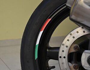 Felgenaufkleber-Felgenrandaufkleber-fuer-Motorrad-Aufkleber-Flagge-Italien