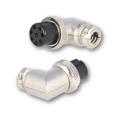 8-pol 90° Mikrofonstecker Einfach Ausgezeichnet Im Kisseneffekt