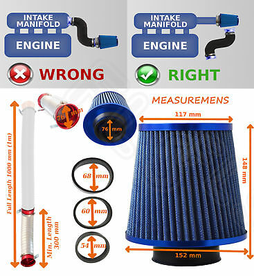 UNIVERSAL PERFORMANCE AIR FILTER COLD AIR FEED INDUCTION KIT 2102BF-Ford 2
