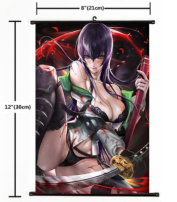 Anime HIGHSCHOOL OF THE DEAD Wall Poster Scroll Home Decor cosplay 1634