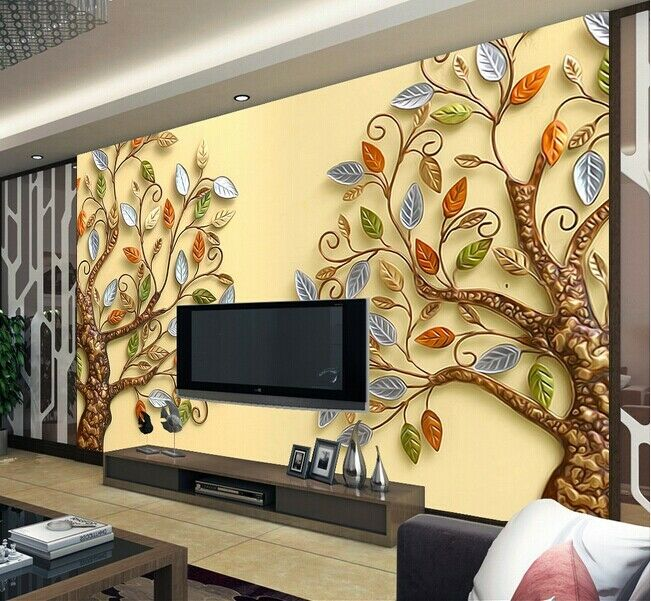 3D Two color Trees 72 Wall Paper Murals Wall Print Wall Wallpaper Mural AU Kyra