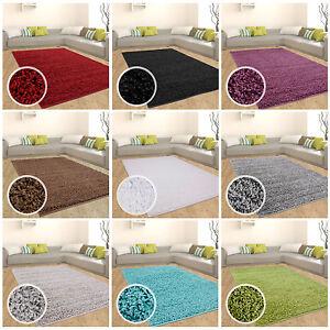 Hochflor-Shaggy-Teppich-Langflor-Wohnzimmer-einfarbig-uni-Neu-Top-Angebot