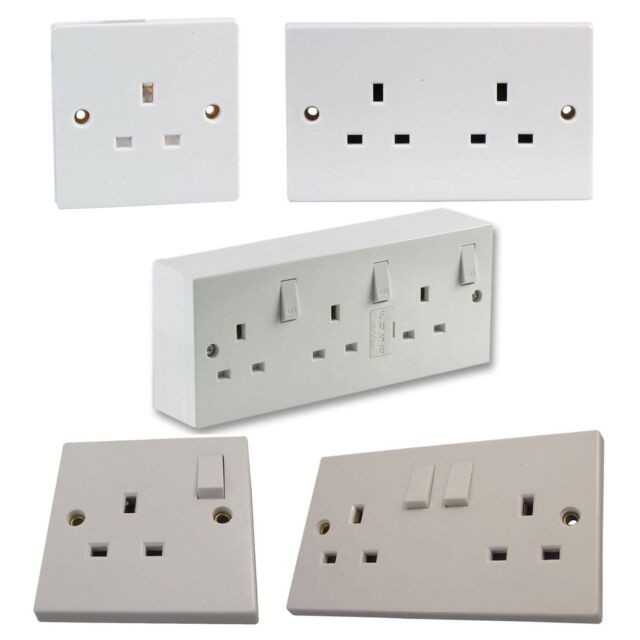 Pack of 5 Ex-Pro Single 13A Switched Sockets BS1363