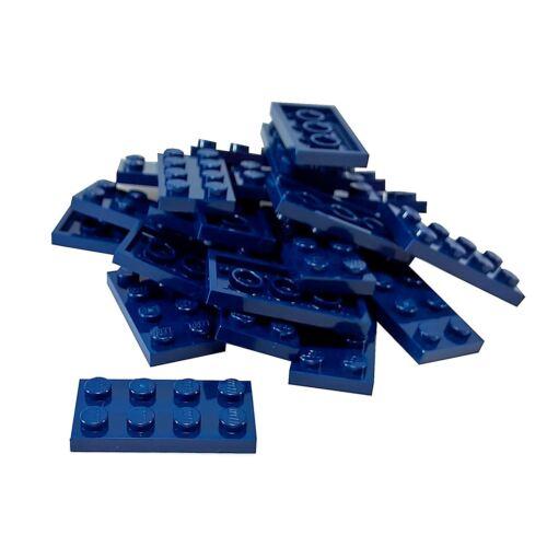 25 NEW LEGO Plate 2 x 4 BRICKS Dark Blue