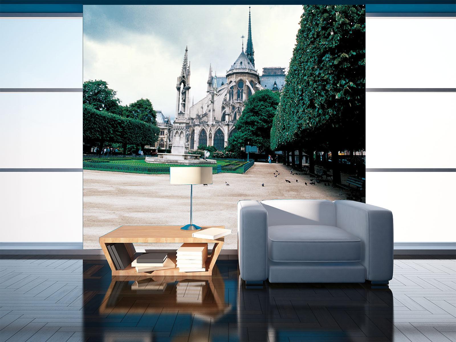 3D Schloss Tauben Park 74 Tapete Wandgemälde Tapete Tapeten Bild Familie DE