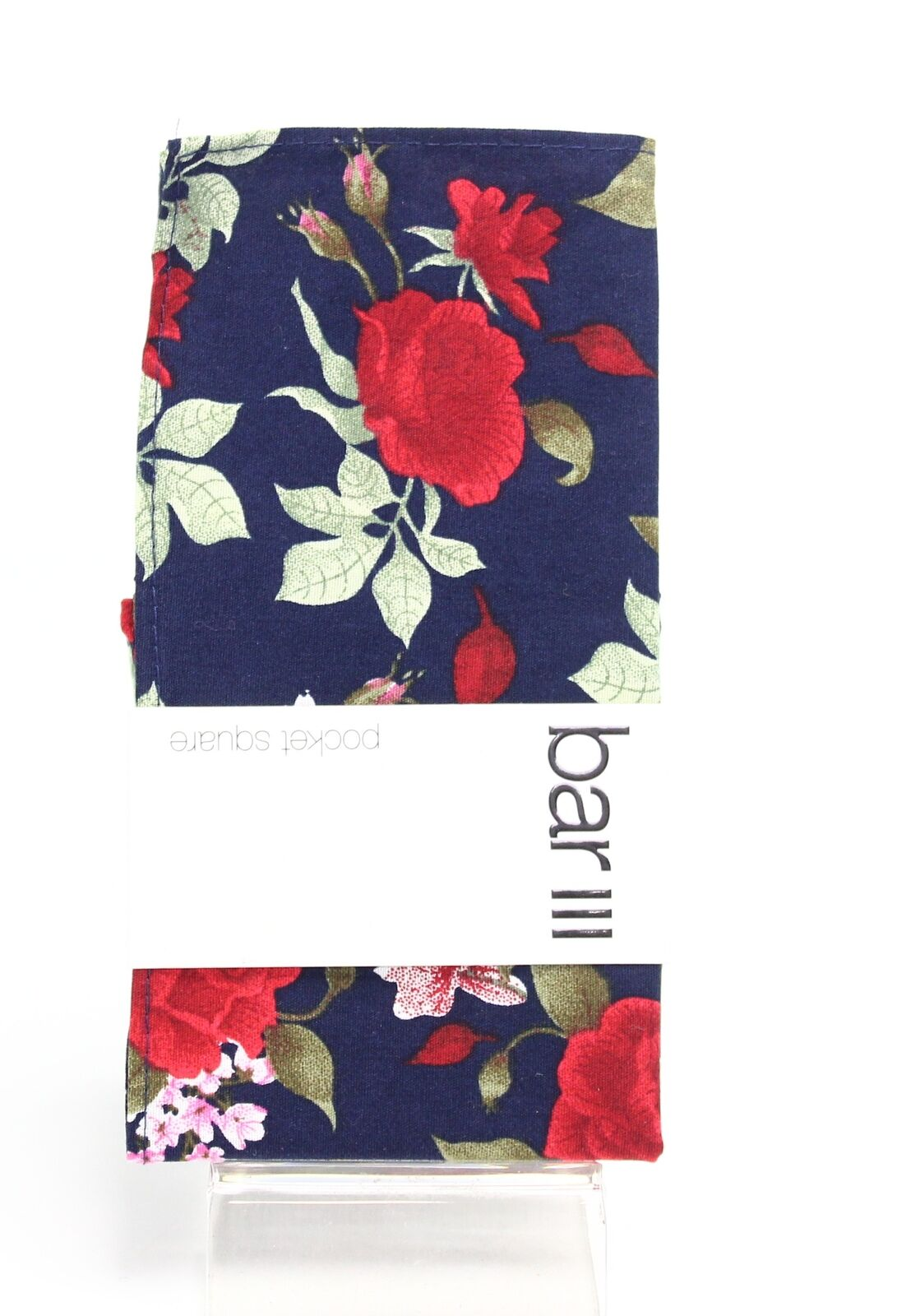 Bar III Men's Pocket Square Navy Blue Louden Floral Printed Accessory #643