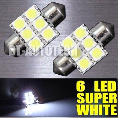 20X SMD 6-LED Map/Dome Interior Lights Bulbs 6000K Xenon White 31MM Festoon