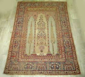 An Important Antique Turkish Rug with Cypress Trees