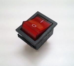 Copieux Interruptor Basculante Bipolar - Luminoso - 15a / 250v - 20a / 125v - Rojo Soyez Astucieux Dans Les Questions D'Argent