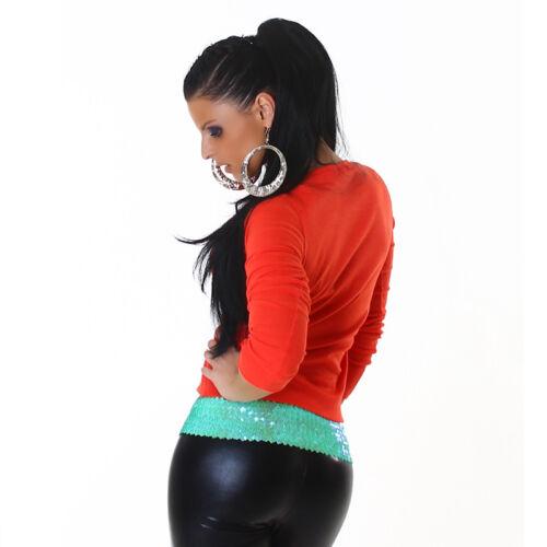 TOP*Damen Basic Strickpulli Pullover Shirt*Schwarz Weiss Rot*XS S M-34 36 38