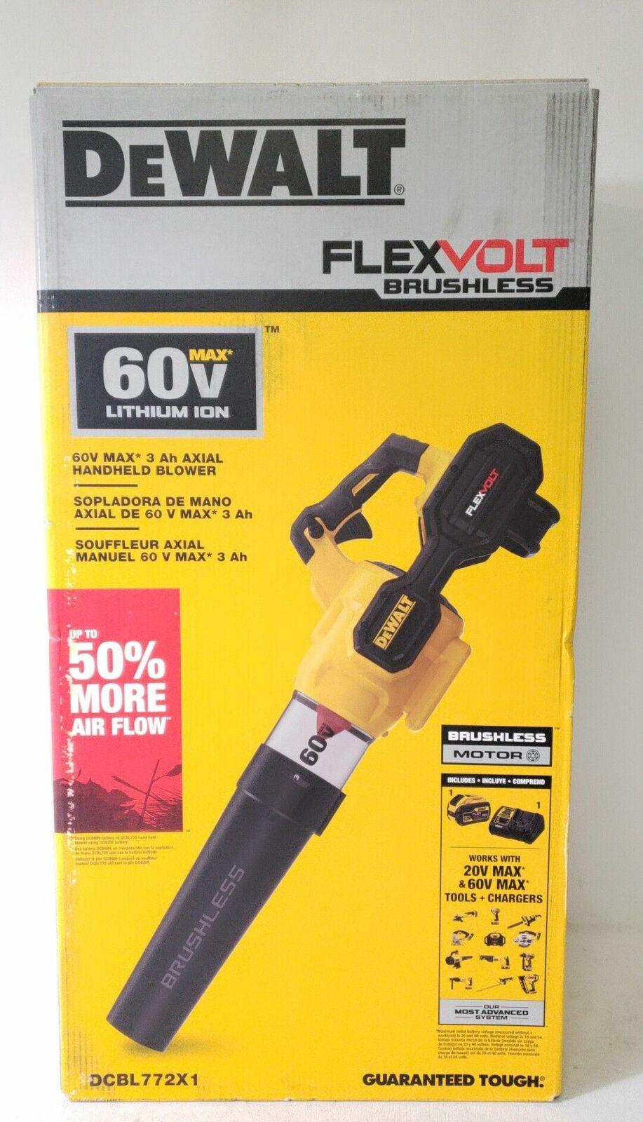 DEWALT DCBL772X1 60V Flexvolt Brushless Handheld Axial Blowe