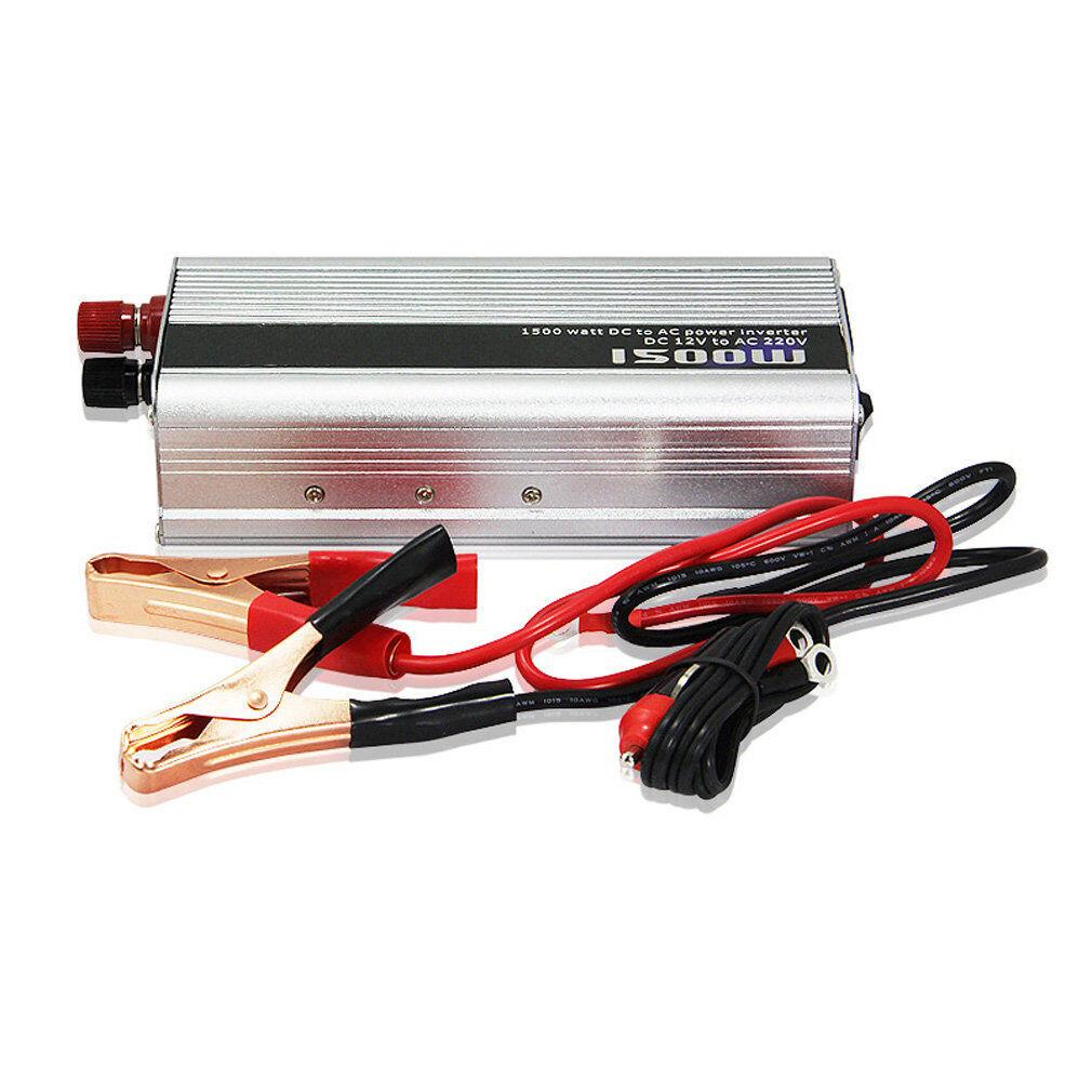 1500 Watt Power Inverter DC 12V to AC 220V Car Truck USB Charger Converter New