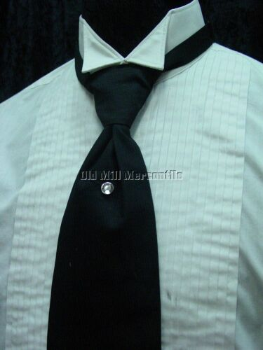 Victorian Mens Ties, Ascot, Cravat, Bow Tie, Necktie    Black Old west Victorian Edwardian vintage style adjustable mens tie $24.84 AT vintagedancer.com