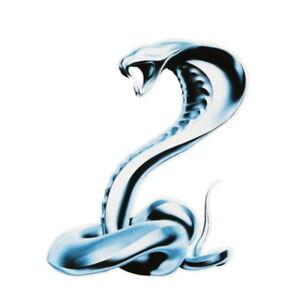 Kobra-Schlange-Aufkleber-Silber-Auto-Motorrad-Sticker-Chrom-real-Koenigskobra