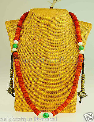 Bijoux Fantaisie Tibétain Prière Collier Mala Népal Buddha Collier Lama Yak Corne 30c Promoting Health And Curing Diseases Autres