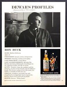 1970 Ron Buck of The Factory Disco photo Dewar's Scotch Whiskey vintage print ad