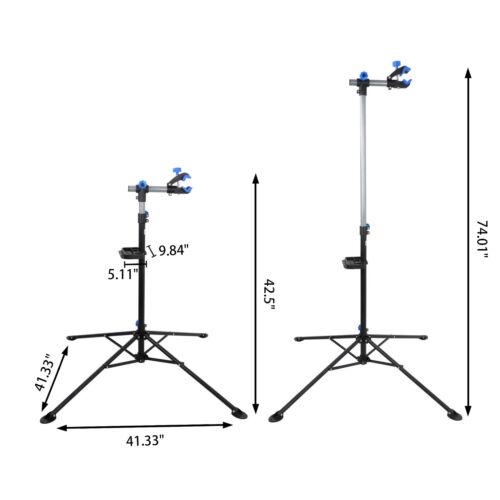 Details about  /Durable Steel Bike Repair Rack Stand W// Telesopic Arm Amateur Bike Mending Tool
