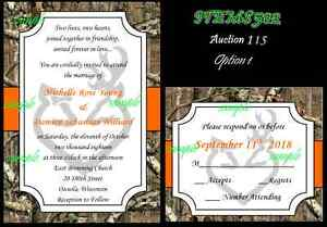 75 Camo Mossy Oak Hunt Deer Browning Hunting Custom Wedding