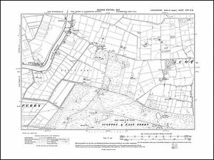 OLD ORDNANCE SURVEY MAP ORMSKIRK NORTH 1907 DERBY STREET BROOKLANDS DARK LANE