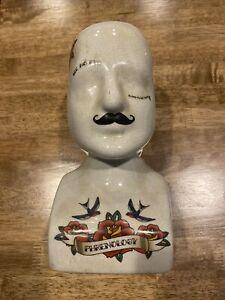 Three Hands White Phrenology Head Porcelain-Ceramic 6in L x 5in W x 11in H