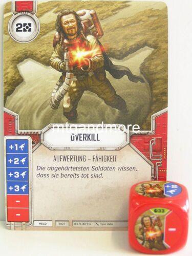 1x #033 Overkill CUBE-R-Spirit Of Rebellion Star Wars Destiny