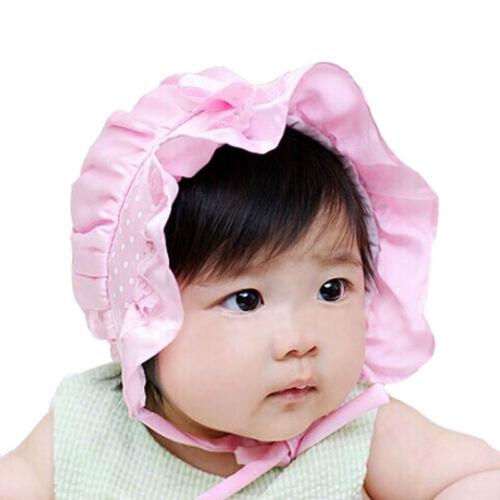 Newborn Toddler Baby Girls Hat Cute Beanie Hat Polka Dots Pattern 2-12 Months