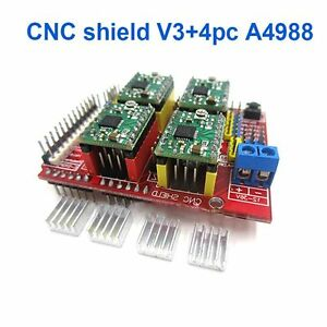 Details about 3D Printer CNC Shield V3 Engraver A4988x4 Expansion Board  Driver for Arduino TOP
