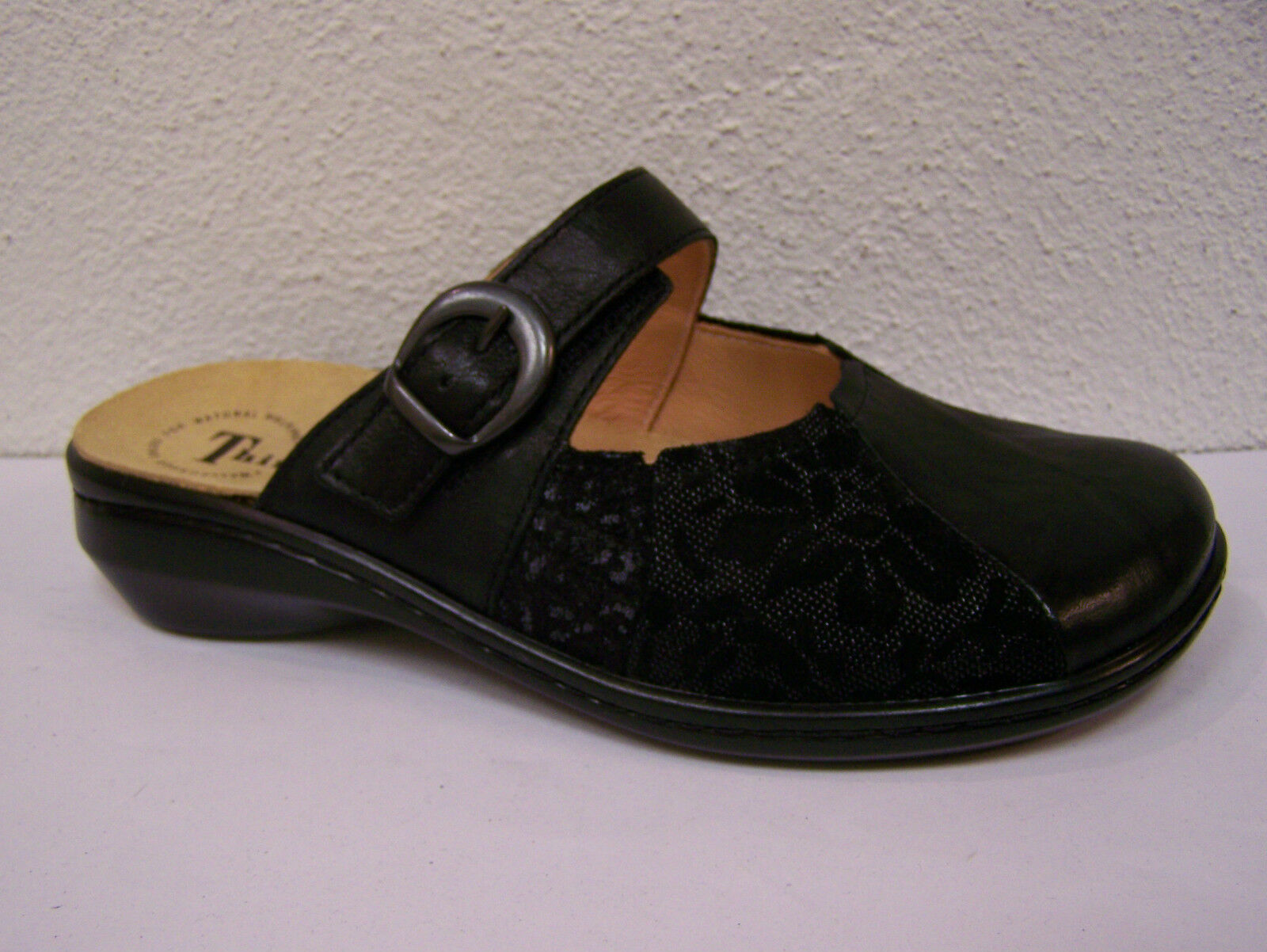 Think scarpe Camilla Velcro, plantare plantare plantare  Nero Kombi con cambio plantare   02b18c