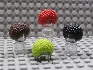 LEGO LOT OF 10 BLACK MINIFIGURE HAIR BUBBLE STYLE AFRO WIGS FIGURE PIECES