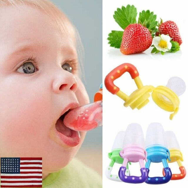 Baby Food Fruit Baby Feeder Nipple Pacifier Feeding Dummy Bite Weaning G