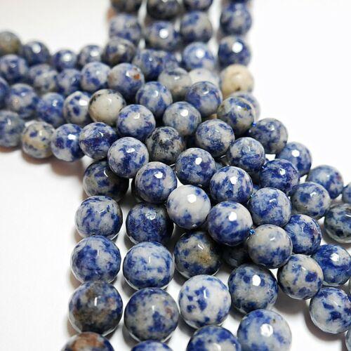 4-12mm balas perlas piedras preciosas Strang Nellys Blue spot jade fac