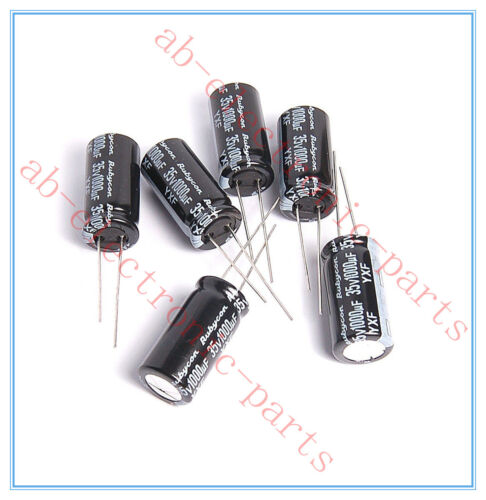1000uf 35v Rubycon Radial Electrolytic Capacitors 12.5x25mm 35v1000uf 5pcs