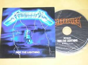 RARE-CD-PRESSAGE-JAPON-METALLICA-RIDE-THE-LIGHTNING-TRES-BON-ETAT