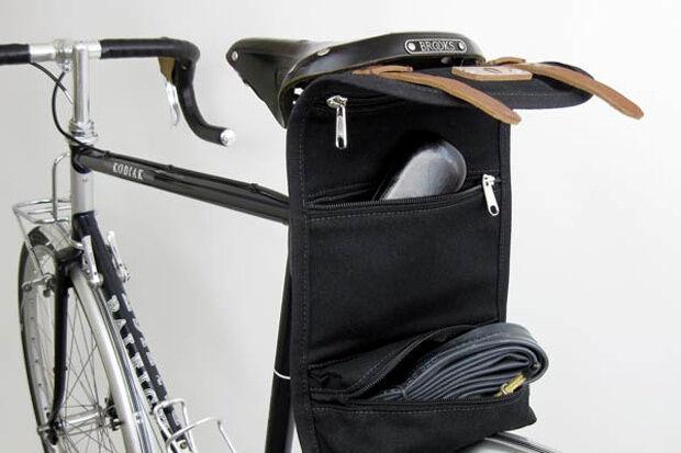 c9ea561c610b98 ... Cicli-Franconi Satteltasche Saddle Bag Canvas Leder Fahrradtasche  Fahrradtasche Fahrradtasche retro schwarz d28619