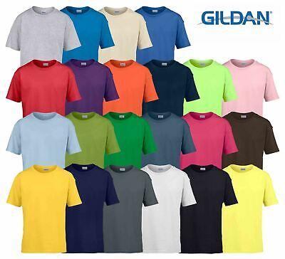 Bambini Gildan Maglietta 100/% Cotone Soft Style Unisex