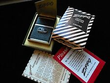 VINTAGE 1956 ZIPPO LIGHTER #550 BLACK MOROCCO LEATHER CRAFTED
