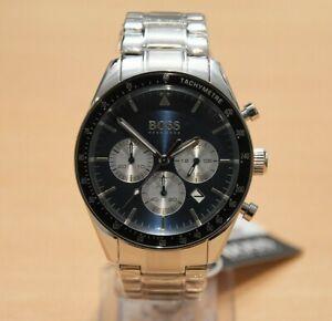 Brand-New-HUGO-BOSS-1513630-Silver-Mens-Trophy-Chrograph-Watch-Tachymeter