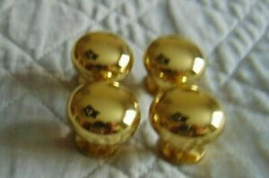 Lot of 12 SOLID BRASS Cabinet Knobs Drawer Pulls Round Ball Mushroom-New